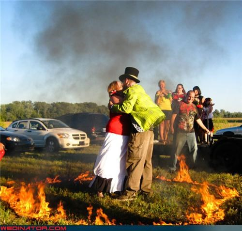 funny wedding photos,johnny cash,ring of fire,theme wedding