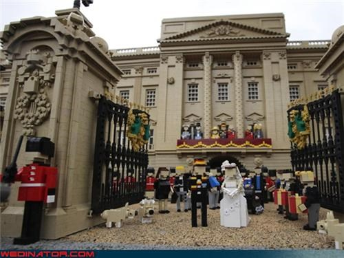 funny wedding photos,kate middleton,legos,prince william,royal wedding,Royal Wedding Madness