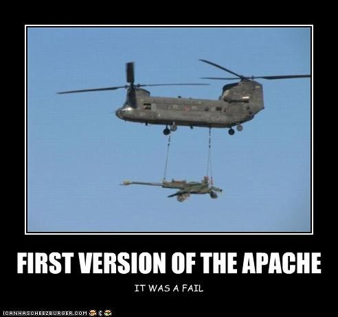 FIRST VERSION OF THE APACHE IT WAS A FAIL