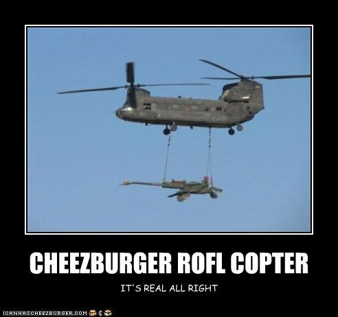 CHEEZBURGER ROFL COPTER IT'S REAL ALL RIGHT