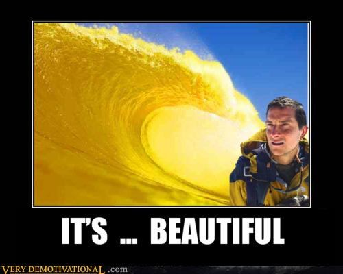 bear grylls,ocean,urine,wave