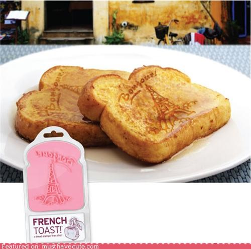 bonjour eiffel tower french toast stamp - 4608968192