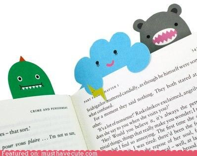 bookmark,books,faces,monster,reading