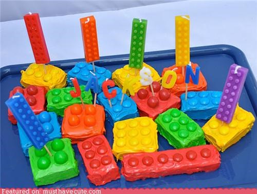 birthday blocks cake candy lego