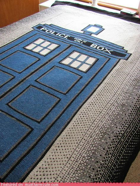 blaket design doctor who tardis - 4609091840