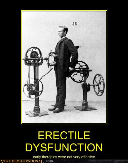 ERECTILE DYSFUNCTION early therapies were not very effective