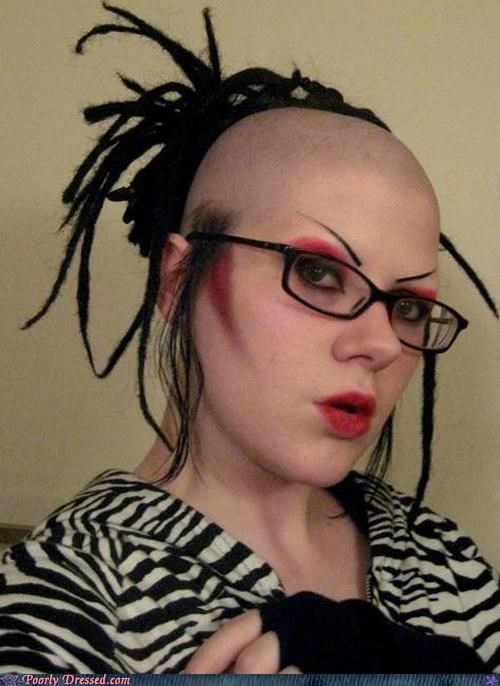 bald hair makeup weird wtf - 4609238528