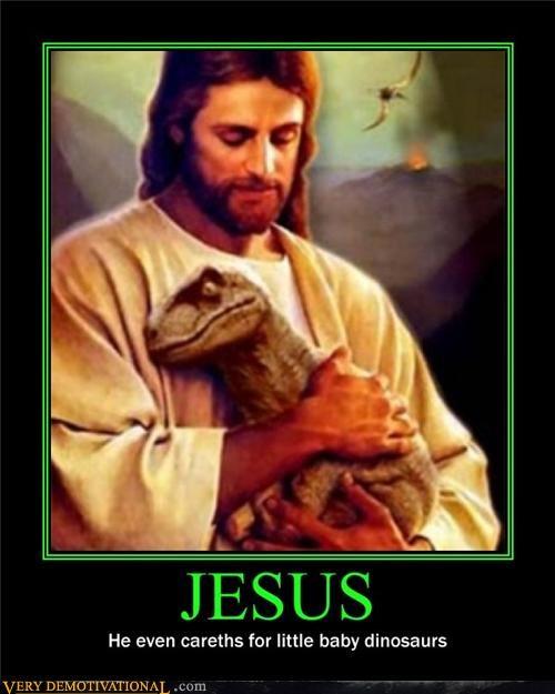 cute,dinosaur,jesus