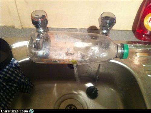 dual use plumbing sink water bottle