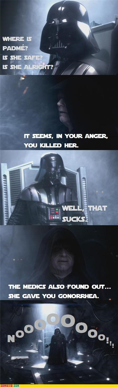 darth vader sad face star wars STD