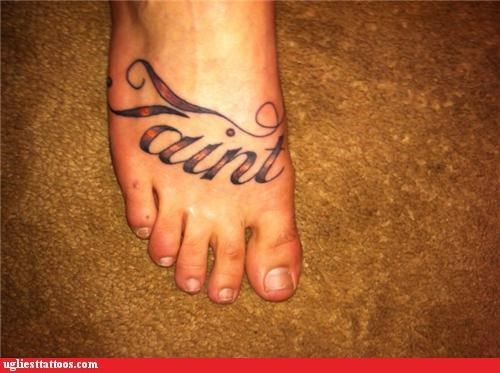 bad feet tattoos funny ugliest-tattoos-g-rated - 4609765376