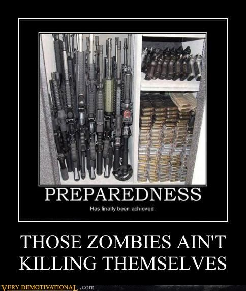 ammo guns prepared zombie