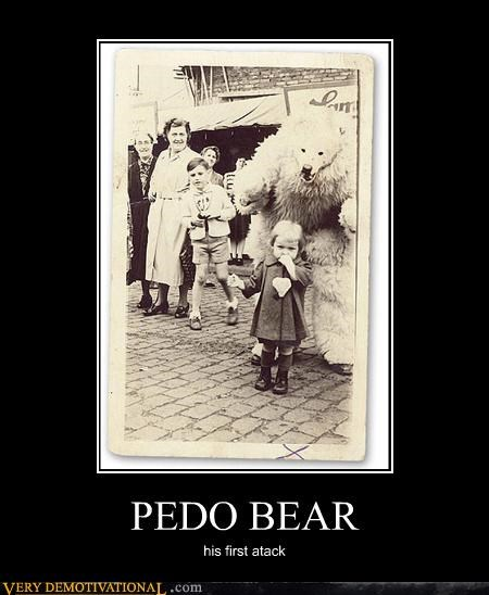 PEDO BEAR his first atack