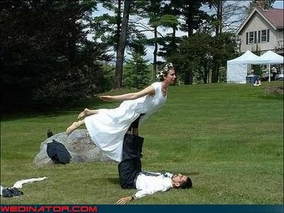 bride flying bride funny wedding photos groom - 4610481920