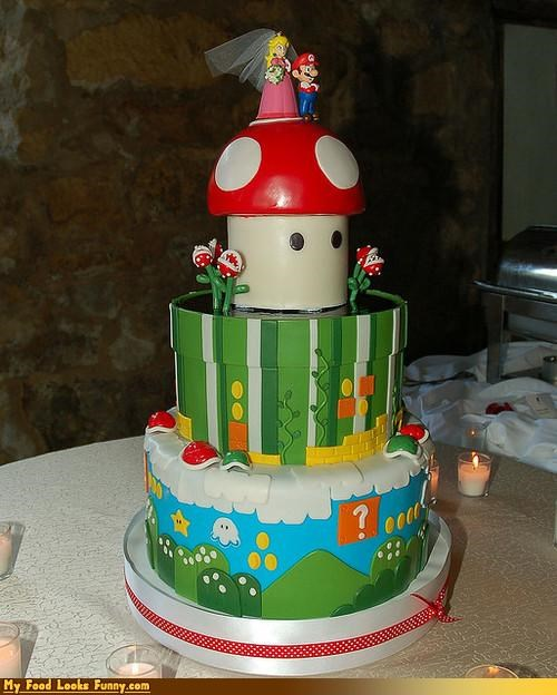 cake mario peach princess super mario super mario brothers video game wedding - 4610724608