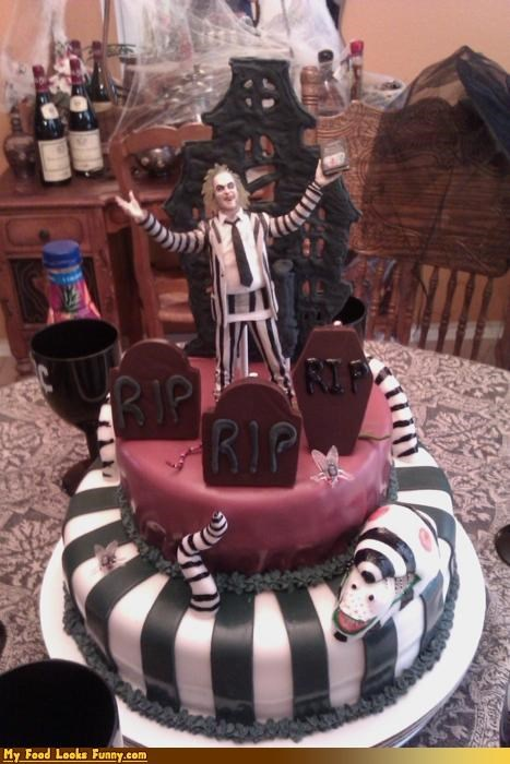 beetlejuice cake graveyard stripes - 4610725376