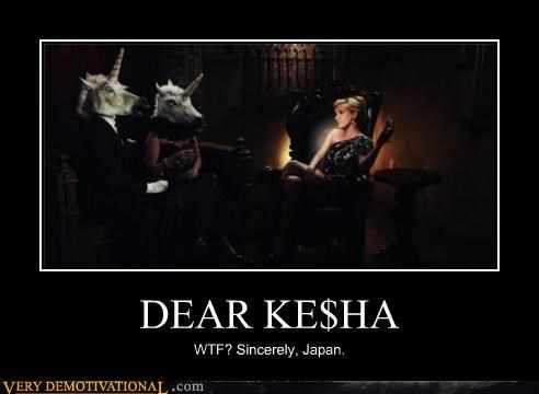 Japan,keha,music video,unicorns,wtf