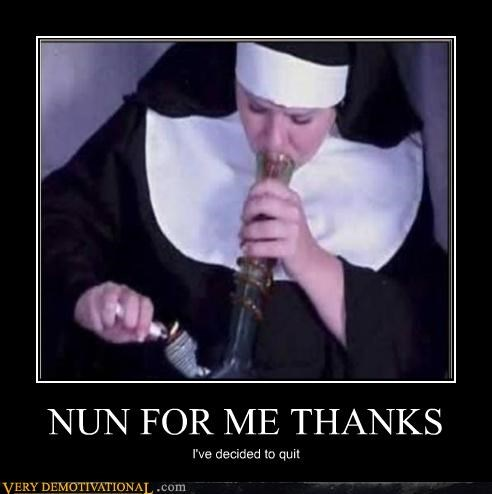 drugs nun smoking weed