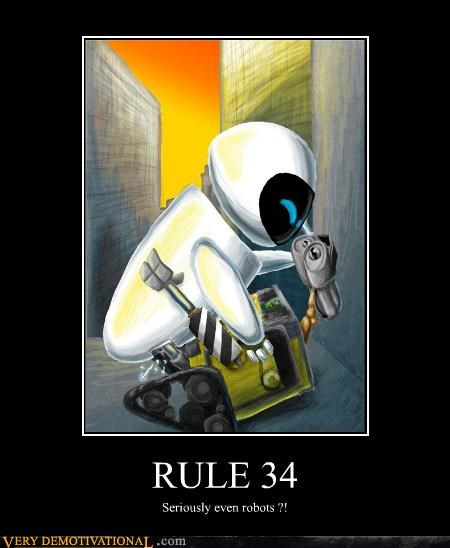 Eve robots Rule 34 sexy times wall.e
