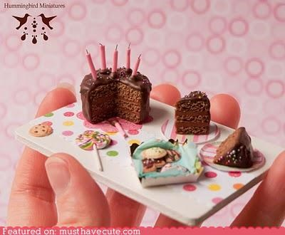 cake candles candy chocolate miniature Party plates - 4611234048