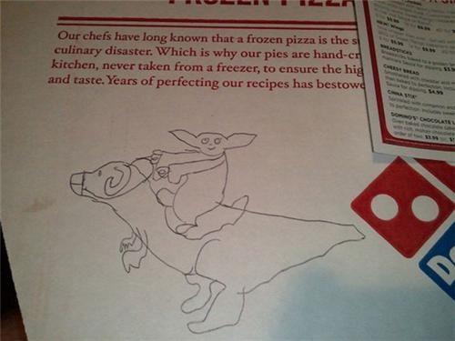 Fan Art,funny,pizza,yoda