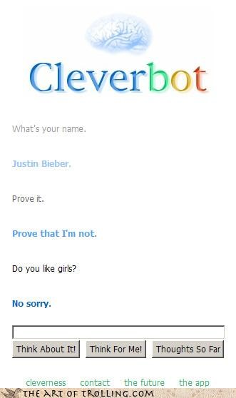 Cleverbot,gay,girls,homosex,justin bieber,lady fun bags,proof