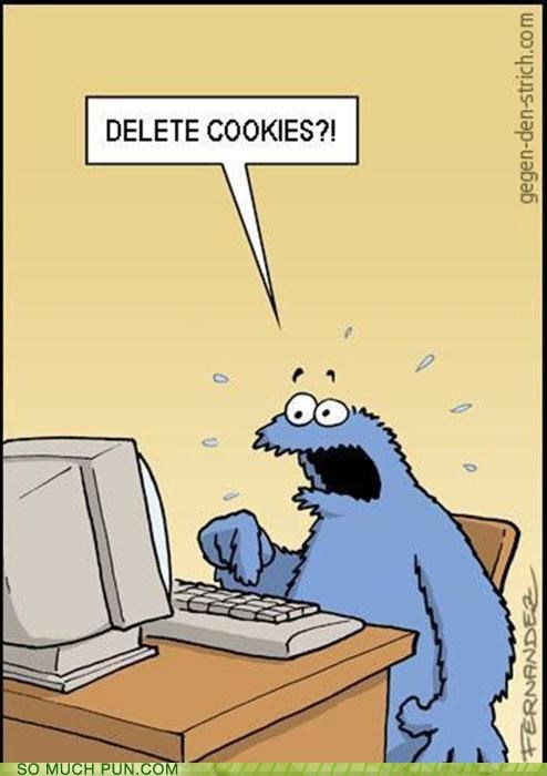 computer cookies Cookie Monster delete double meaning Hall of Fame internet option - 4611814656