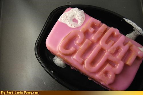 bubbles cake fight club foam icing pink soap - 4611855104
