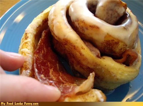 bacon,breakfast,cinnamon roll,genius,pastry