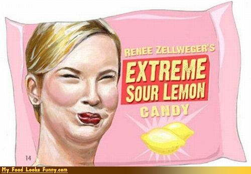 candy,face,lemon,renee zellwegger,sour