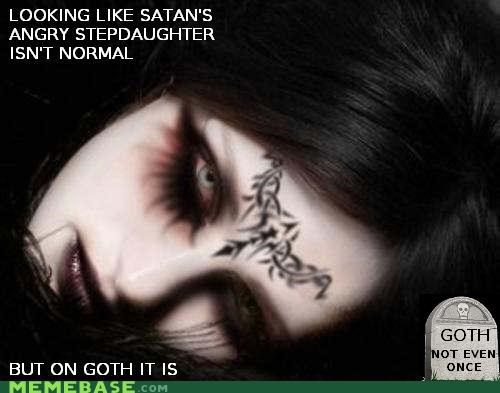goth Not Even Once satan