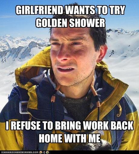 bear grylls bear grylls day off girlfriend Memes - 4612176640