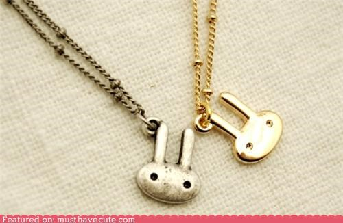 accessories,bunny,chain,gold,Jewelry,necklace,pendant,silver