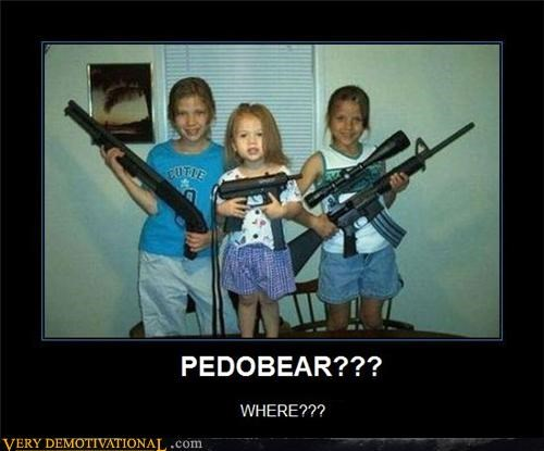 guns,kids,pedobear,what