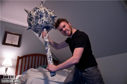 awesome product,clever,mace,Pillow,weapons