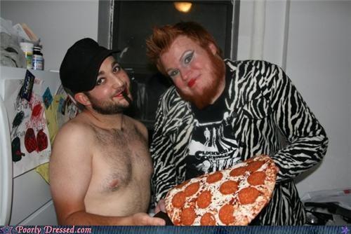 cross dresser makeup pizza weird zebra - 4612454400