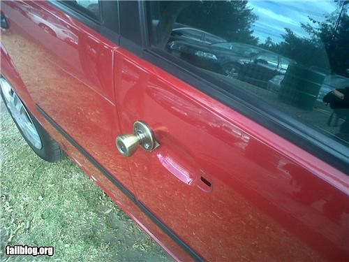 cars,DIY,door knob,failboat,fixed,g rated
