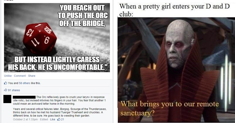 Funny dungeons and dragons memes.