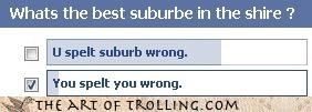 facebook,questions,shire,spelling,suburb,The Hobbit,you