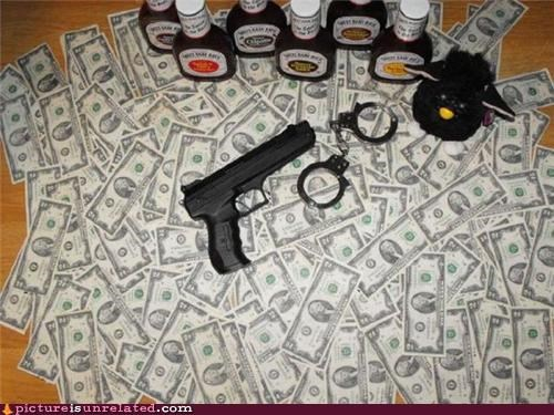 bbq sauce,gangsta,guns,money