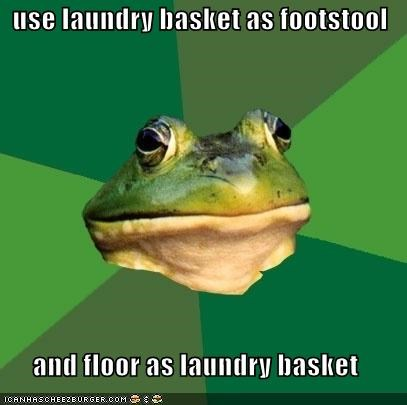 floor,footstool,foul bachelor frog,laundry basket