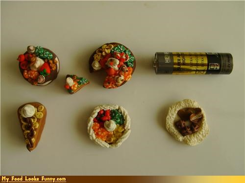 battery dishes food meal miniature scale sculpture - 4613649920