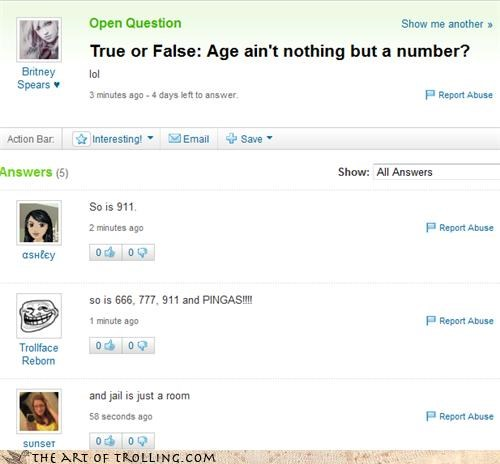 age jail numbers Yahoo Answer Fails - 4613693184