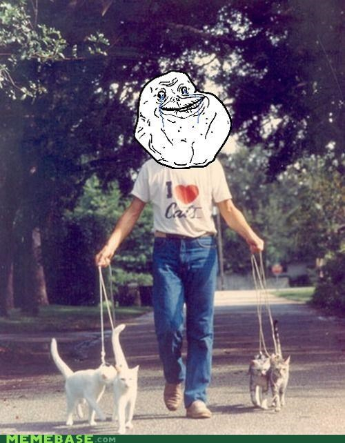 forever alone,crazy cat ladies,Cats