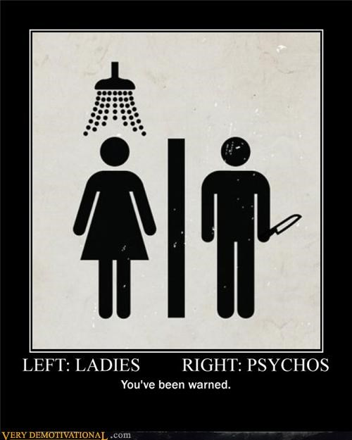 ladies psychos sign warning