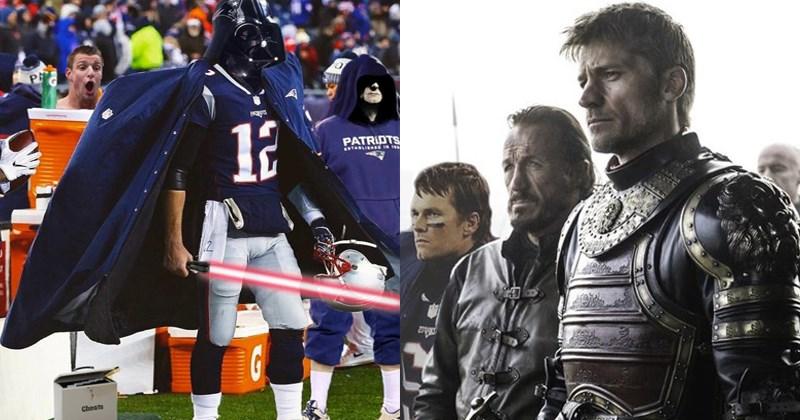 Funny photoshops of Patriots quarterback Tom Brady from photoshop battle subreddit.