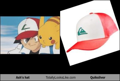 Ash's hat Totally Looks Like Quiksilver