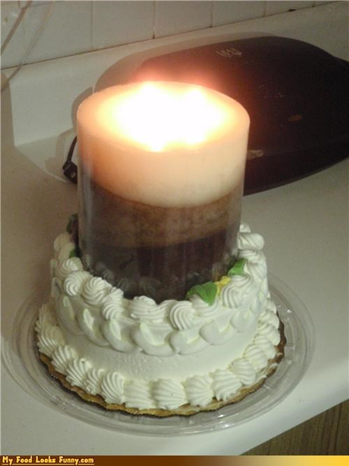 cake,candle,fire,frosting