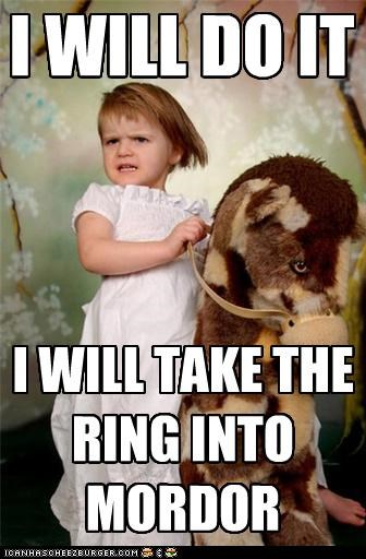 I WILL DO IT I WILL TAKE THE RING INTO MORDOR