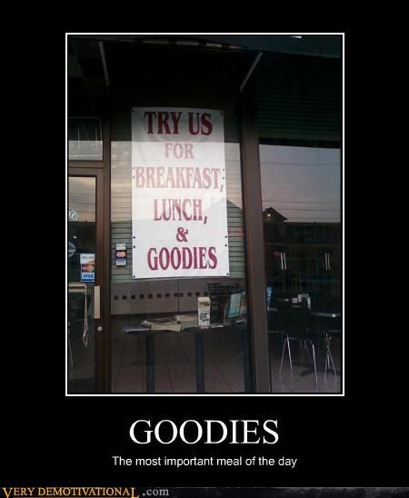 goodies meal restaurant sign - 4614557440